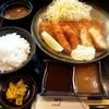 Tontei - 料理写真:ヘレミックス定食(カニコロッケ、イカフライ)