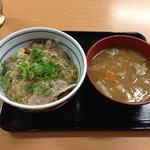 吉野家 - 豚ロースネギ塩(小盛)豚汁セット_2013年8月