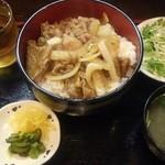 与志井 - 豚焼肉丼¥500
