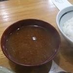 豊島屋 - 味噌汁、ごはん