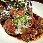 くし家串猿 - 黒酢の鶏の唐揚げ