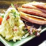 くし家串猿 - 人気!ポテトサラダ&厚切りハムカツのコンビメニュー