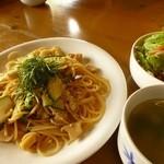 けや木 - ほたての和風スパゲッティ(小盛り)