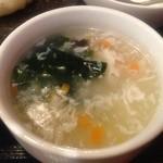 上海モンナリーサ - ランチ スープ
