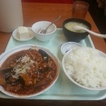 吉田飯店 - 麻婆茄子定食