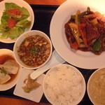 2013.8.13 広東式酢豚定食 (\1,580)