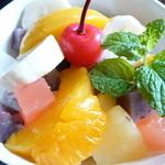 ぽわーる - フルーツみつ豆(\600)