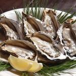 ほのわ源灯庵 - 料理写真:厚岸漁港から直送で取り寄せるブランド生牡蠣。しかもLサイズ!とってもお得!