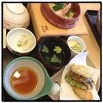 華屋与兵衛 - 料理写真:蟹釜飯と野菜天セット@1310 お墓参りにいってきました。