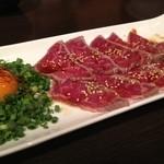YUGEYA - 近江牛のレアステーキ。