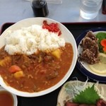松風 - 鹿カレーセット 1000円
