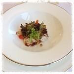 レストラン シャンボール - 『タコの湯引きと野菜のマリネ サラダ仕立て ルビーグレープフルーツと共に アンチョビとケイパーソース』