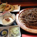 庄内旬味 悦波 - 悦波定食 蕎麦は田舎で