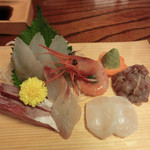 魚処やつはし - おすすめコースの刺身6種