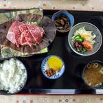 レストラン あるぷす - 飛騨牛朴味噌ステーキ定食