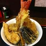 天ぷらそば ふくろう - 天丼 特盛 ¥650