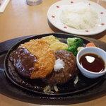 ステーキのどん - 和風おろしハンバーグ&ポークカツ デミグラスソース