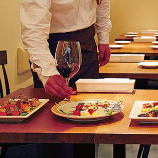 ソムリエが串料理と会うワインをお選び致します