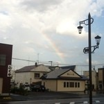 ヒツジ堂 - 虹が出ています。
