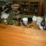 翠 - 玄米コーヒーを入れているところ 作り方を教えて頂きました