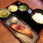 味家 - ランチの銀ヒラスゆうあん焼き(1,000円)2013年8月