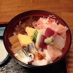味家 - ランチのちらし寿司(1,000円)2013年8月