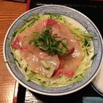 味家 - ランチのカンパチ丼(1,000円)2013年8月