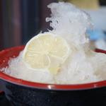 ともえ庵  - しょうがの氷(500円)