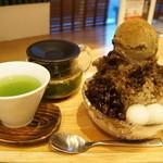 CHASEN - 京ほうじ(750円)と抹茶玄米茶(温・250円)のセット。