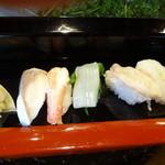 浜鮨 - 料理写真:〆さば、かに、いか、北寄貝、えび