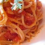 バルバニーカフェ - トマトとベーコンのパスタ