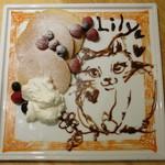 cica - エッグ&ミルクのアートパンケーキ《ベリー&ベリー》(単品では\900、2013年8月)