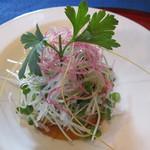 遠灯庵 - スズキのオイル焼きサラダ
