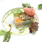 コウジイガラシ オゥレギューム - 料理写真:野菜のテリーヌ トマトのソルベと