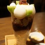 北斎茶房 - 白玉ぱふぇ(800円)