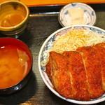 たけだ - ジャンボソースカツ丼(250g)味噌汁,小鉢,漬物付 1290円