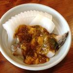 小笹寿し - 生アワビの肝&ウニ和えwithイカ