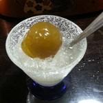 寿司・懐石處 やなぎ - 梅かき氷