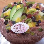 インフィオラーレ - 2013年・母親の誕生日ケーキ。24cm(8寸)なり。