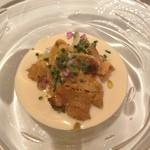 20665235 - 前菜1-ウニとアワビと車海老の冷静スープ