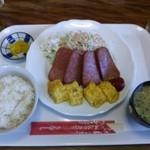 五升庵 - ポーク玉子定食