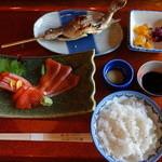 鱒の家 - 鱒刺身定食1575円