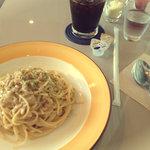 タイムカフェ - きのこのクリームパスタ