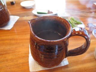きぬたや - 蕎麦湯