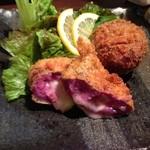 Churachura - 紅イモチーズコロッケ