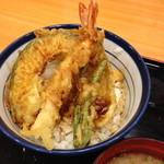 天丼てんや - 天丼(500円)味噌汁付き