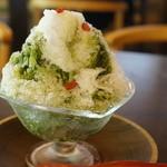 喫茶去 - かき氷(抹茶・600円)