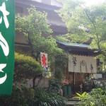 新鶯亭 - 上野動物園のすぐそば。こちらが入り口です。