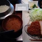20673776 - ロースかつ(本日のお野菜・お食事セット・自家製デザート付・1450円)