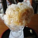朱雀 - カフェオレのかき氷